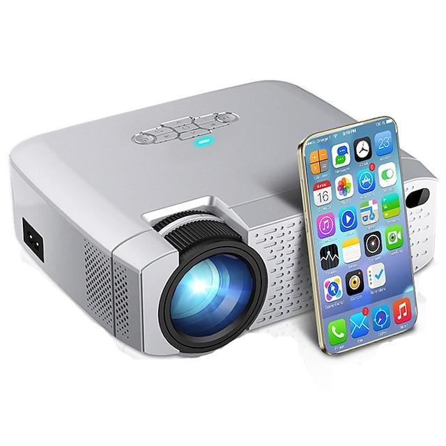 D40W led mini projecteur vidéo beamer pour home cinema 1600 lumens support hd affichage de synchronisation sans fil pour iphone / téléphone android d40w