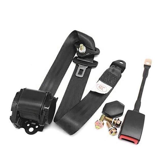 חגורת בטיחות אוטומטית תלת-נקודתית לחגורת הבטיחות לרכב עם פקק מכונית עם חגורת בטיחות מתכווננת
