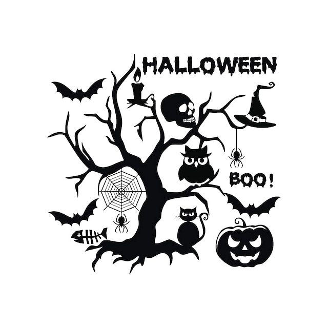Halloween Wall Stickers Decorative Wall Stickers, PVC Home Decoration Wall Decal Wall Decoration / Removable 58*55cm