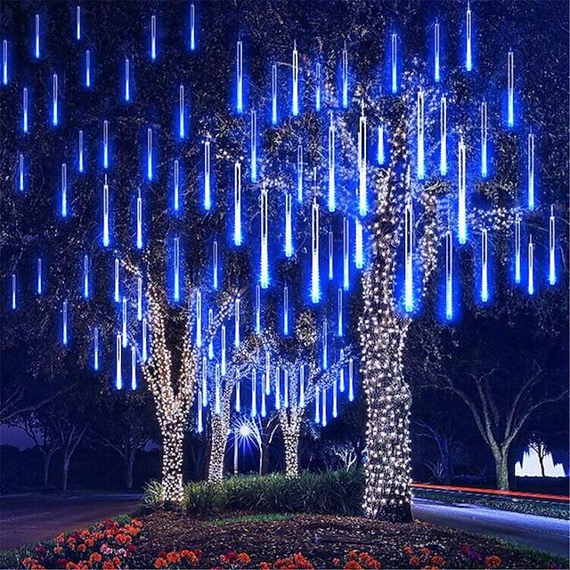 padající dešťová světla meteorická sprchová světla vánoční světla 50cm 8 trubice 240leds padající déšť kapka rampouch řetězec světla pro vánoční stromky halloween dekorace sváteční svatba