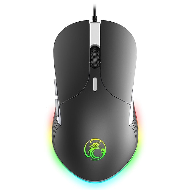 LITBest X6 Wired USB Gaming Mouse / Office Mouse RGB Breathing Light 800/1200/2400/3200 dpi 4 Adjustable DPI Levels 6 pcs Keys 6 Programmable Keys
