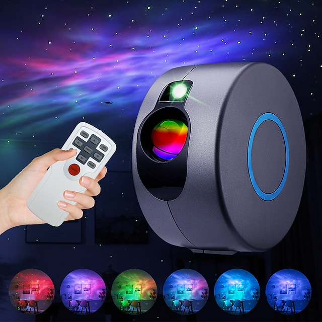 Star Projector Laser Galaxy Starry Sky Projector  LED Night Light with Remote Night Star Projector with 15 Mode Lighting Shows for For Bedroom and Party Decoration