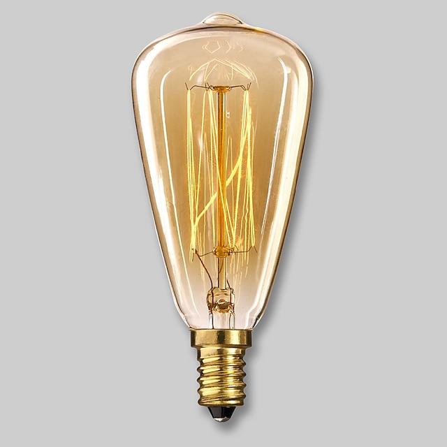 1PC E14 ST48 المتوهجة خمر اديسون ضوء لمبة 220-240 V