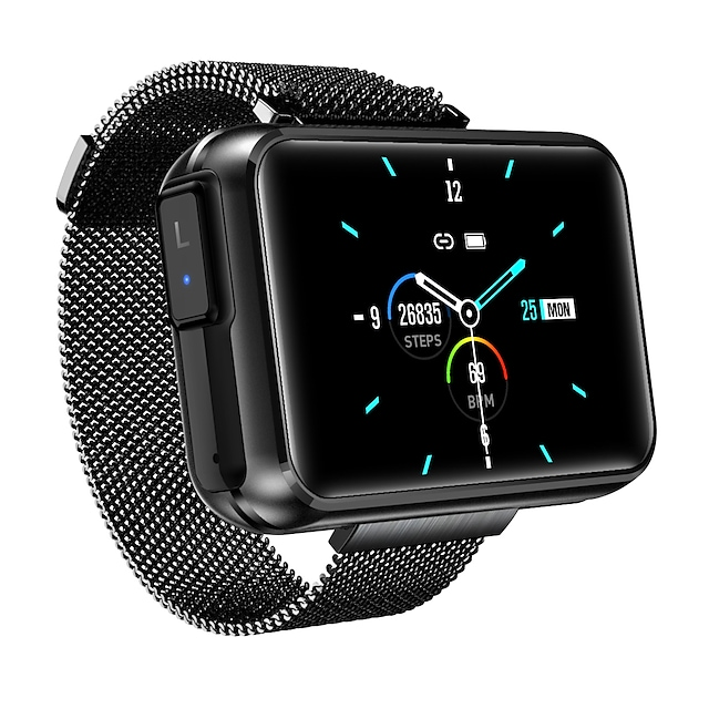 HS300 Smartwatch & Earbud 2-in-1 Support Bluetooth Call/Play Music/Siri, Bluetooth 280mah Battery-capacity Fitness Tracker for Apple/ Samsung/ Android Phones