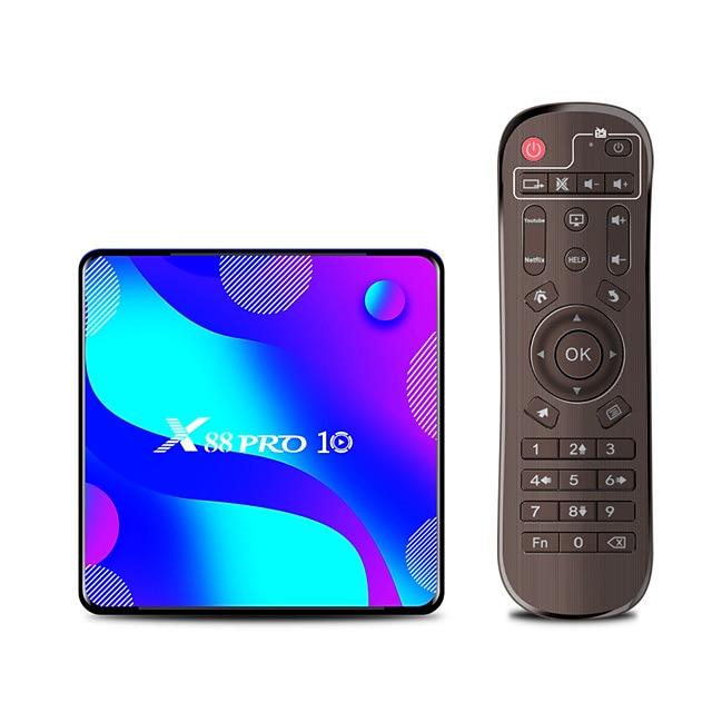 Android 9.0 TVボックス X88 PRO 10 ブルートゥース 4.0 1080P (1920x1080) 4K デジタルディスプレイ RK3318 2GB 16GB