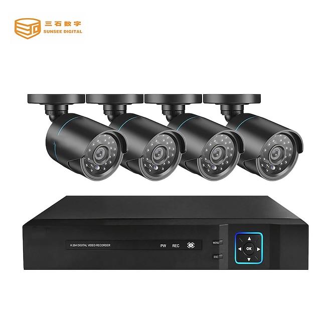4ch ahd dvr Sicherheitssystem 1080p ahd wasserdichte Outdoor-CCTV-Kamera 1080p 2.0mp Nachtsicht ahd Überwachungskit