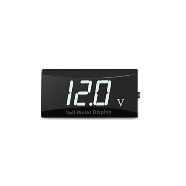 conveniente display portatile impermeabile led digitale ad alta precisione voltmetro voltmetro misuratore di pannello per auto moto