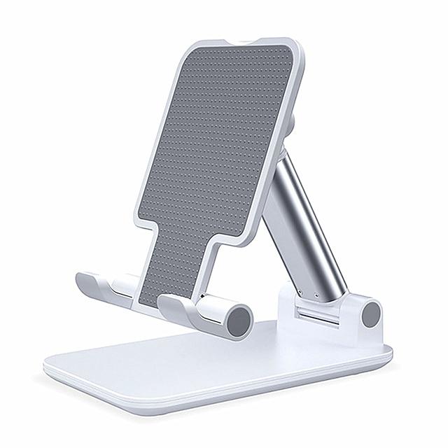 Suportes para Celular De Mesa iPad Celular Tábua Suporte Ajustável Suporte de mesa para telefone Ajustável Silicone Metal Acessório para Celular iPhone 12 11 Pro Xs Xs Max Xr X 8 Samsung Glaxy S21