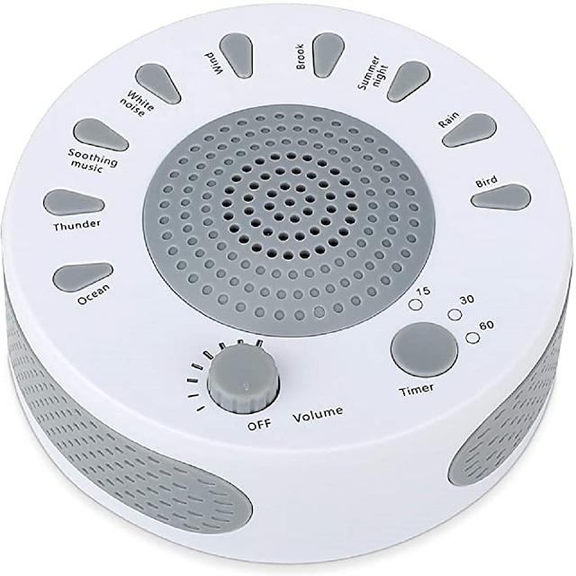백색 소음 기계-아기 어린이 성인을위한 수면 음향 기계-9 개의 고음질 진정 소리 및 3 개의 타이머, 볼륨 조절 및 홈 오피스 여행용 수면 기계
