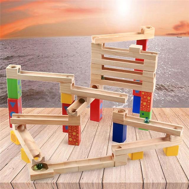 Bordspellen Knikkerbaansets 1 pcs Puinen Jongens Voor meisjes Kinderen Speeltjes Geschenk