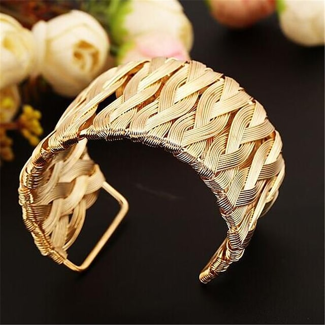 Women's Cuff Bracelet Hollow Out Fashion Fashion Alloy Bracelet Jewelry Gold For Gift Date Festival