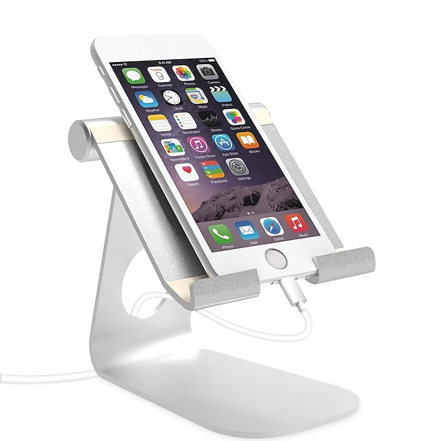 Стенд / крепление для телефона Стол iPad Сотовый телефон Для планшета Складной Регулируемая подставка Регулируется Алюминиевый сплав Аксессуар для мобильных телефонов iPhone 12 11 Pro Xs Xs Max Xr X