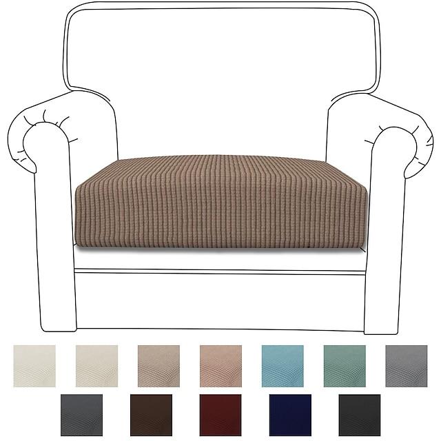 โซฟายืด เบาะรองนั่ง เบาะรองนั่ง สำหรับโซฟาขวาง armchair loveseat 4 หรือ 3 ที่นั่ง l รูปร่างธรรมดา สีทึบ ทนทานล้างทำความสะอาดได้ furniture protector