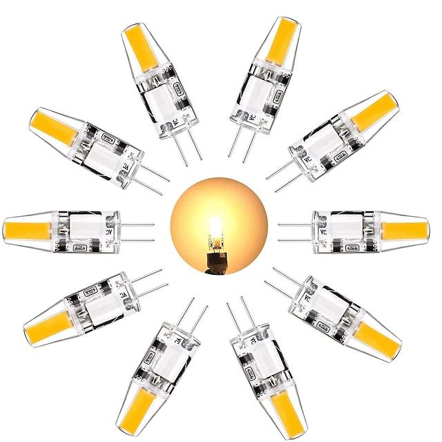 10 pcs G4 Ampoule LED 3 W Équivalent à G4 Ampoule halogène 30 W Mini G4 Ampoule LED Blanc Chaud Blanc 3000 K Lumière Du Jour 6000 K G4 Base DC 12V