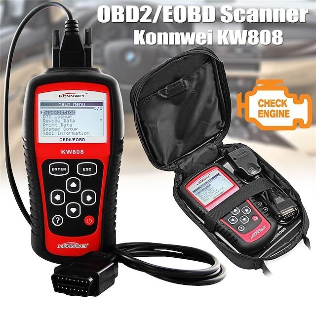 konnwei kw808 obd scanner de voiture obd2 auto automobile diagnostic scanner outil prend en charge j1850 moteur fualt code lecteur dfd