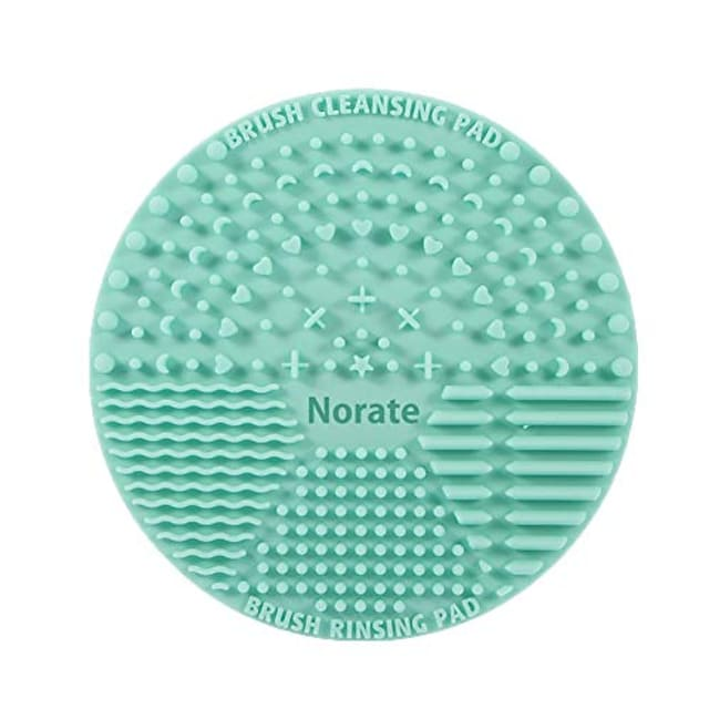 brush cleaning mat,silicone makeup cleaning brush scrubber mat portable washing tool cosmetic brush cleaner with suction cup for valentines day