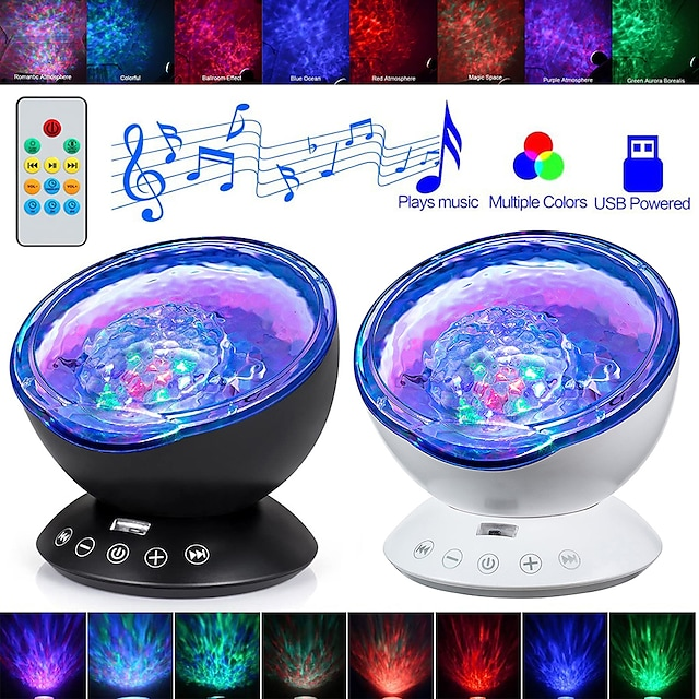 litbest as124e3 coquimbo ocean wave proiettore led night light built in music player remote control 7 light cosmos star luminaria for kid bedroom