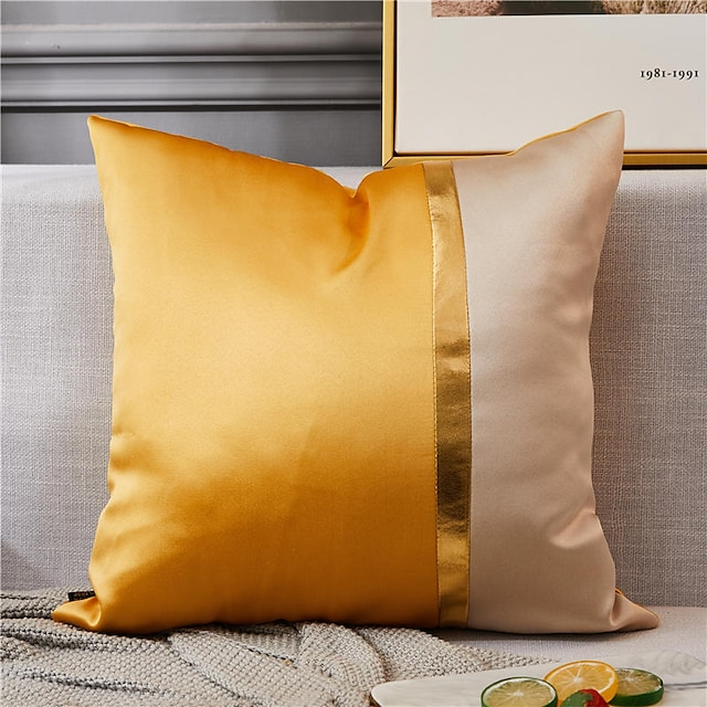 1 Pc Satin Silk High Quality Two Colors Pillow Case Cover Living room Bedroom Sofa Pillow Case cover