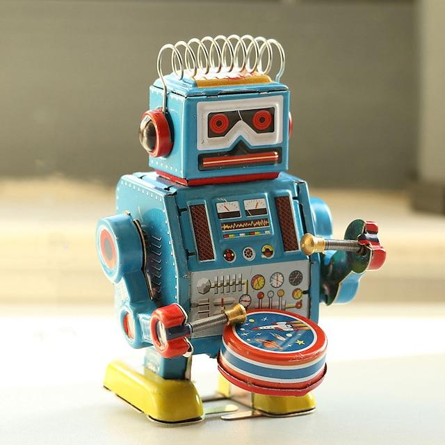 Robot Giocattoli carica a molla Macchina Robot Metallico Ferro Anime 1 pcs Per bambini Da ragazzo Da ragazza Giocattoli Regalo