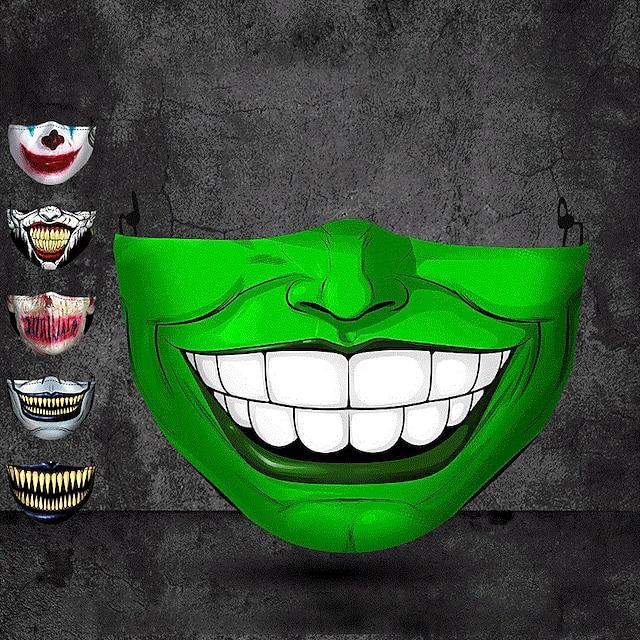 maschera stereo protettiva antipolvere 3d di stampa per adulti di commercio estero di halloween può essere lavata maschera di cotone all'ingrosso personalizzata