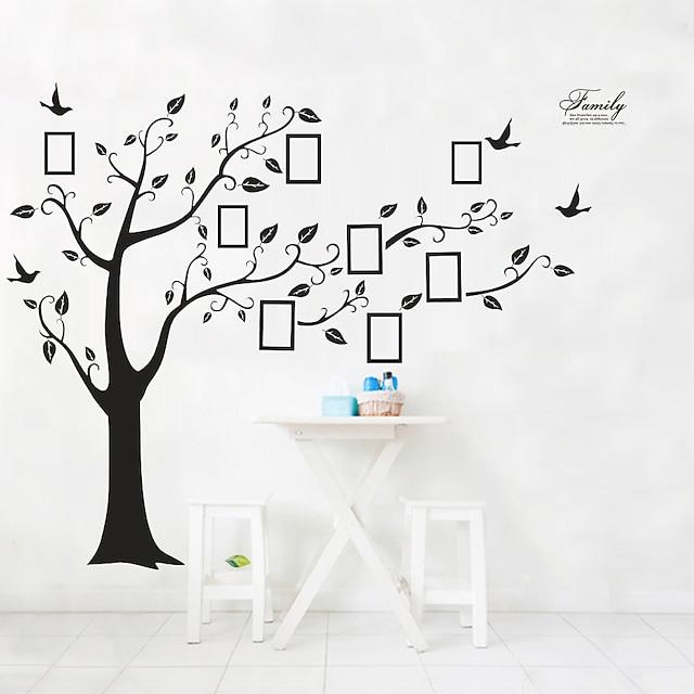 Big Family Tree Wall Stickers Self Adhesive Home Decor Removable Black Photo Frame Tree PVC Wall Art Mural Stickers Decal 4pcs 90*60*2cm Wall Stickers for bedroom living room