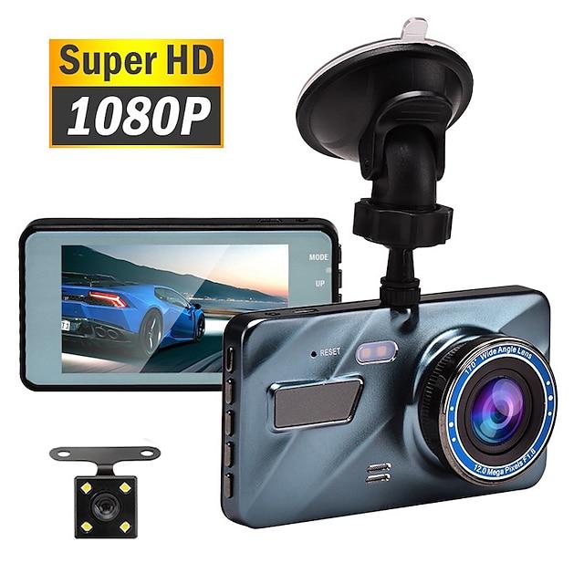 Voiture dvr dash cam enregistreur vidéo 3 en 1 vue arrière double caméra full hd caméra de voiture 3.6