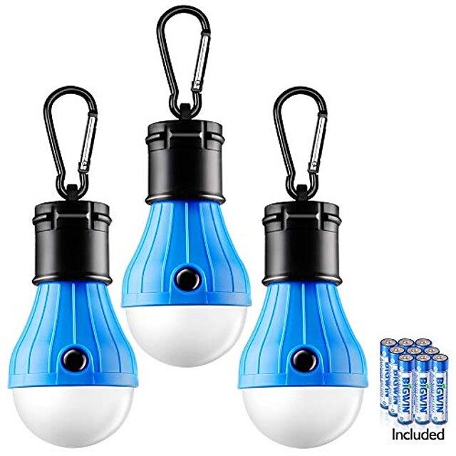lampe de tente 3 packs lampe de tente lampes de camping lanternes LED portables lampes de tente compactes pour le camping randonnée randonnée pêche à pied ampoule de secours ouragan suspendu avec 9