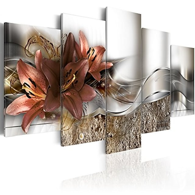 5 Panel Wall Art Canvas Prints Painting Artwork Picture Flower Home Decoration Décor Rolled Canvas No Frame Unframed Unstretched