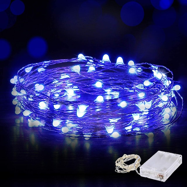 10m String Lights 100 LED Waterproof Wire Fairy String Lights 4pcs 2pcs 1pc for Christmas Wedding Home Holiday Party Room Outdoor Decoration Warm White White Blue