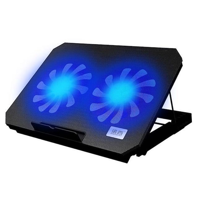 cooler para laptop de jogos com velocidade ajustável 2 portas usb e 2 ventoinhas de refrigeração para laptop com almofada de refrigeração para notebook de 12-17 polegadas