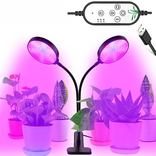 1 pcs 30 w usb gradation led élèvent la lumière led plantes lampes spectre complet phyto lampe minuterie pour intérieur légume fleur semis
