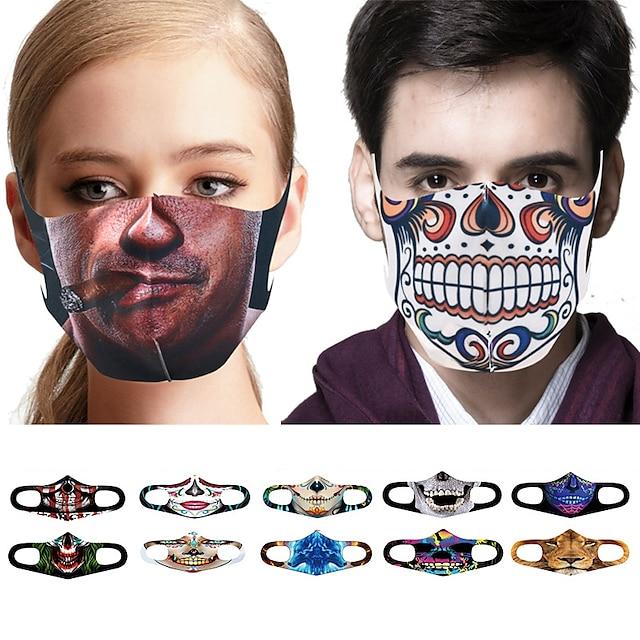 10 kom maska za lice zaštitna maska za lice zaštitna od svakodnevnog svakodnevnog pletiva otporan na prašinu Halloween skelet 3d ispis