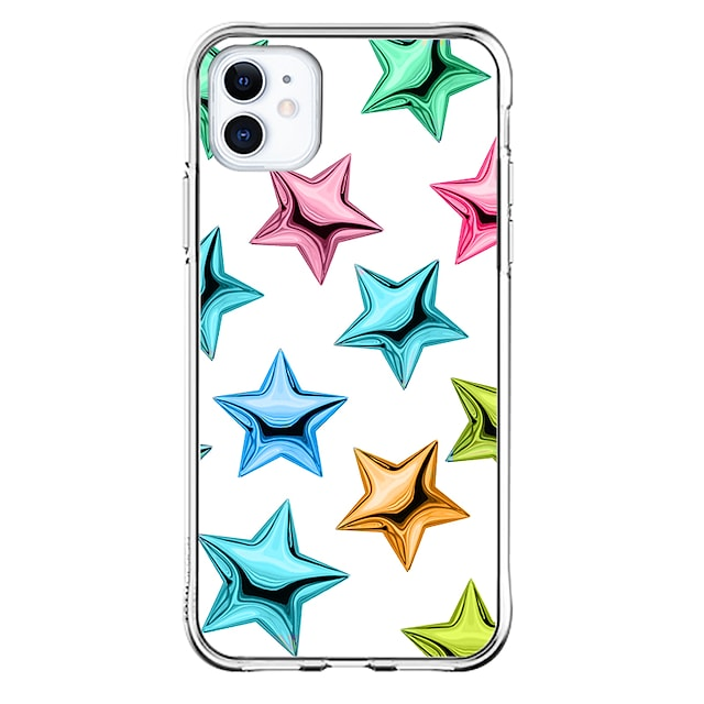 Crystal Surface Special Design Case For Apple iPhone 12 iPhone 12 Pro Max iPhone XR Unique Design Protective Case Shockproof Transparent Pattern Back Cover TPU