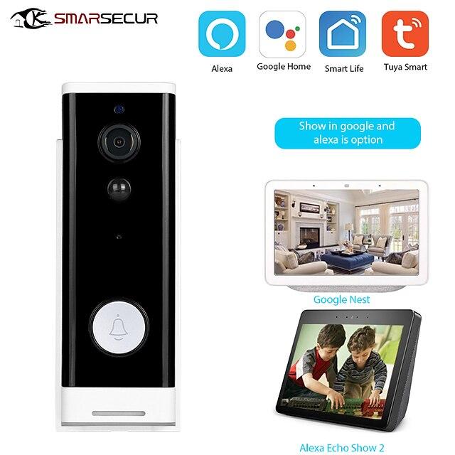 1080P Tuya Smart WiFi Sonnette Caméra Ring Door Bell App Interphone Détecteur de Mouvement Vision Nocturne Caméra de Sécurité