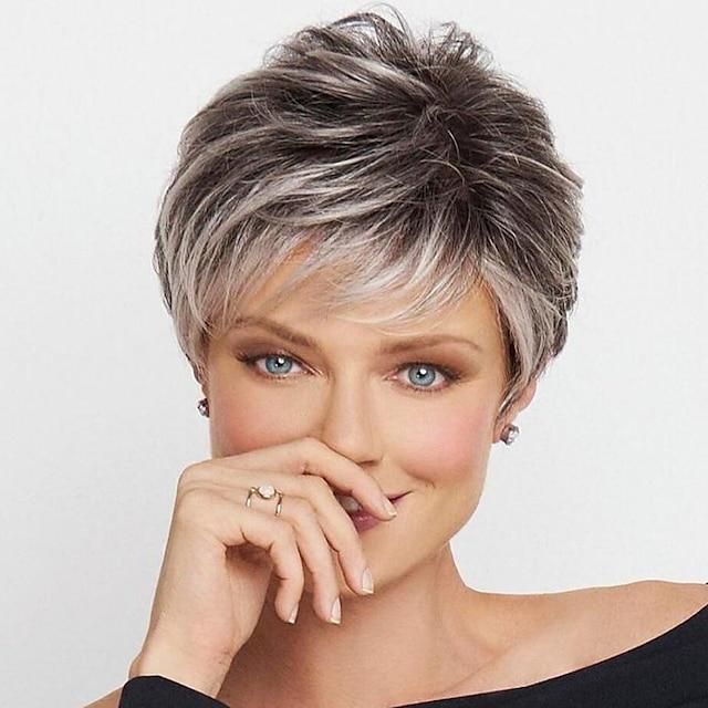 Synteettiset peruukit Kihara Pomppiva kihara Pixie-leikkaus Peruukki Lyhyt Vaalea blondi A1 A2 A3 A4 Synteettiset hiukset Naisten Muodikas malli Pehmeä Helppo kantaa Kulta