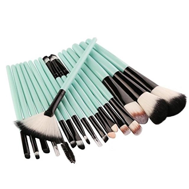 18 buc set de perii de machiaj instrumente set de articole de toaletă machiaj set de perii de machiaj din lână pentru femei (verde)