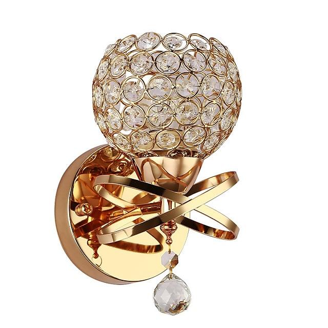 бра хрустальный настенный светильник роскошная спальня прикроватная настенная лампа