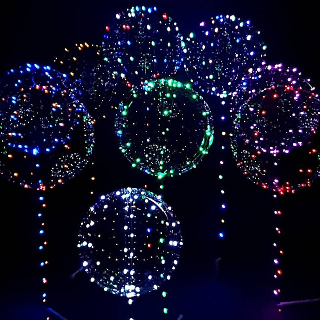 LED Balloon Luminous Party Wedding Supplies Dorm Party Decoration Transparent Bubble Decoration Birthday Wedding LED Balloons String Lights Christmas Gift