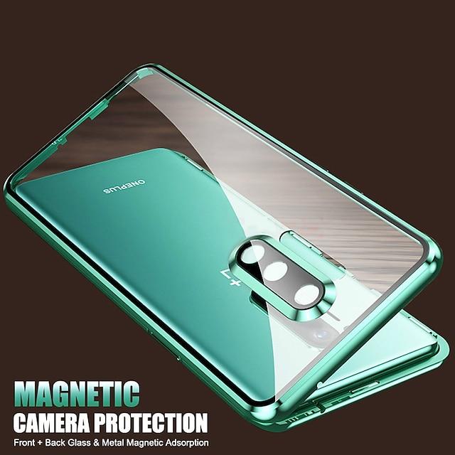 telefon Etui Til OnePlus Fuldt etui Flip Etui OnePlus 8 Pro OnePlus 8 Stødsikker Vend Gennemsigtig Gennemsigtig Tempereret glas Metal