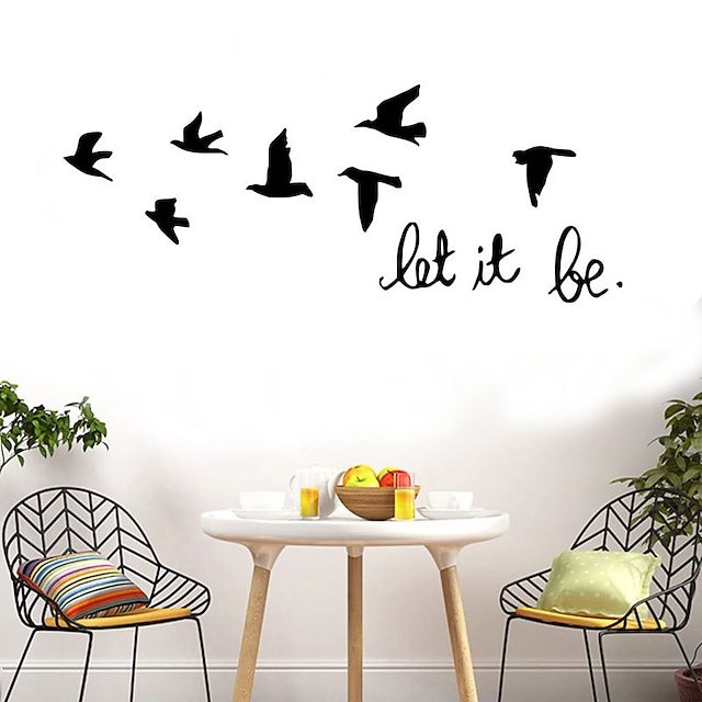 Animals Wall Stickers Flying Birds Wall Stickers Decorative Wall Stickers PVC Home Decoration Wall Decal Wall / Window Decoration 1pc