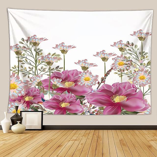 wandtapijten art deco deken gordijn picknicktafel doek opknoping thuis slaapkamer woonkamer slaapzaal decoratie polyester vezel plant serie modern bloem roze