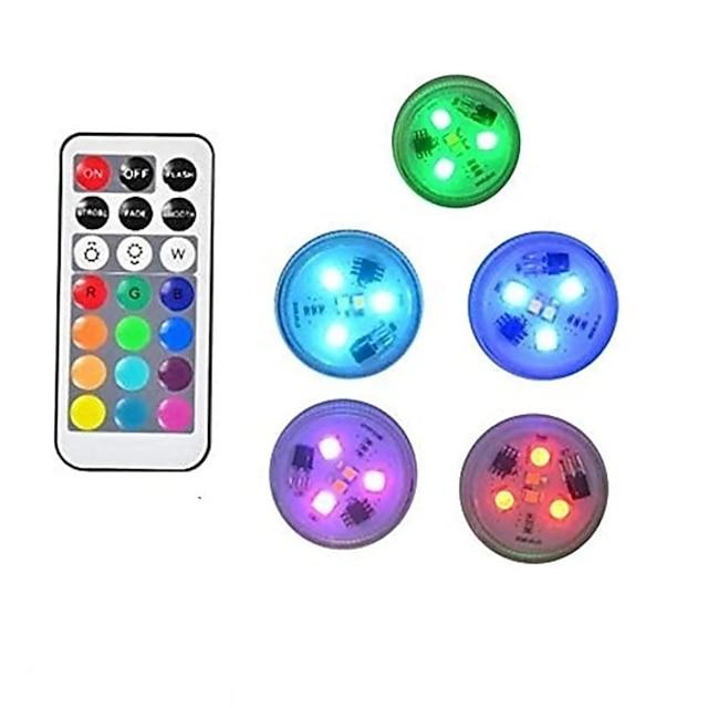0.5 W 10 τεμ 5 τεμ Τηλεκατευθυνόμενος Υποβρύχιο Φως Με μπαταρίες Πολύχρωμα 3 Εξωτερικός Φωτισμός Πισίνα Κατάλληλο για Βάζα & Ενυδρεία LED χάντρες Ημέρα του Αγίου Βαλεντίνου Χριστούγεννα