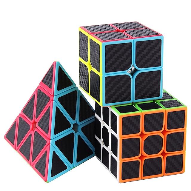 속도 큐브 세트 3 pcs 매직 큐브 iq 큐브 2*2*2 3*3*3 speedcubing 번들 3d 퍼즐 큐브 스트레스 해소 퍼즐 큐브 전문가 수준 속도 어린이 장난감 선물
