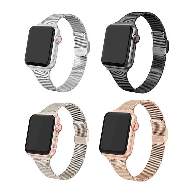 Pulseira de Smartwatch para Apple  iWatch 1 pcs Fecho Moderno Aço Inoxidável Substituição Tira de Pulso para Apple Watch série SE / 6/5/4/3/2/1