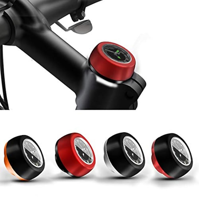 mtb road bike bicycle headset stem watch,cycling head parts bike headset top cap stem cover (black and orange)
