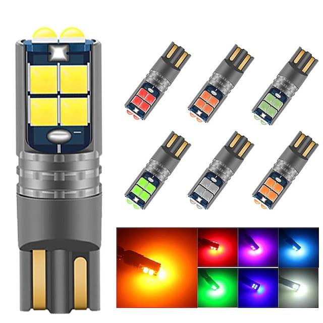 2 قطع سيارة LED ضوء نمرة السيارة أضواء ماركر الجانبية لمبات الضوء SMD 3030 2 W 10 من أجل عالمي كل السنوات