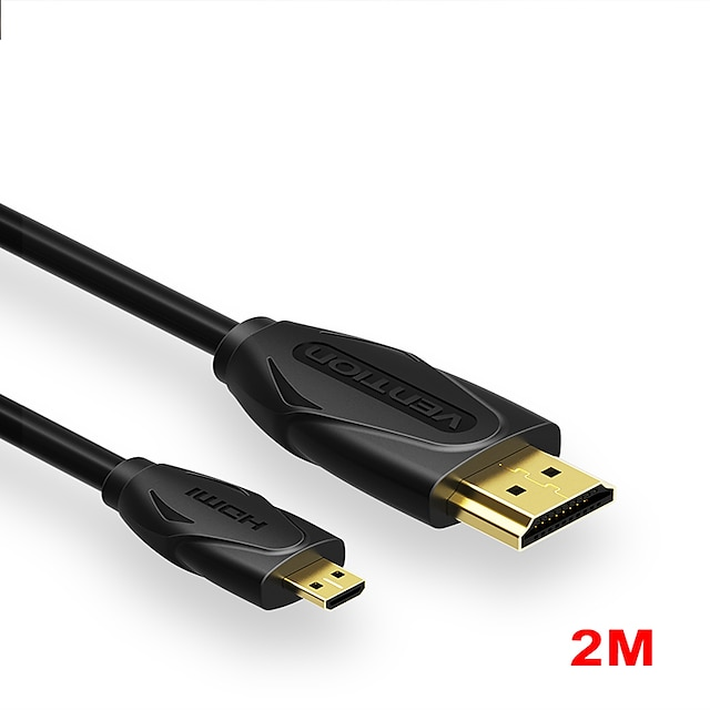 vention micro hdmi cable 4k 3d effect micro mini hdmi to hdmi cable male to male for gopro camera sony projecteur micro hdmi cable 2m