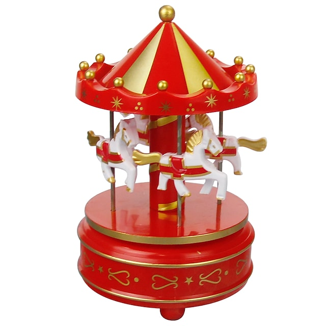 オルゴール 馬 回転木馬 ユニーク 木製 女性用 男女兼用 女の子 子供用 大人 子供 卒業プレゼント おもちゃ ギフト