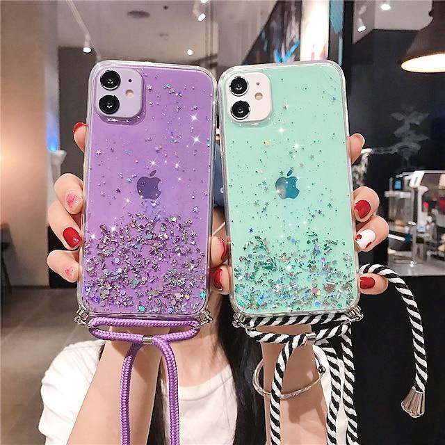 téléphone Coque Pour Apple Coque Arriere iPhone 12 Pro Max 11 SE 2020 X XR XS Max 8 7 Brillant Ciel Brillant TPU