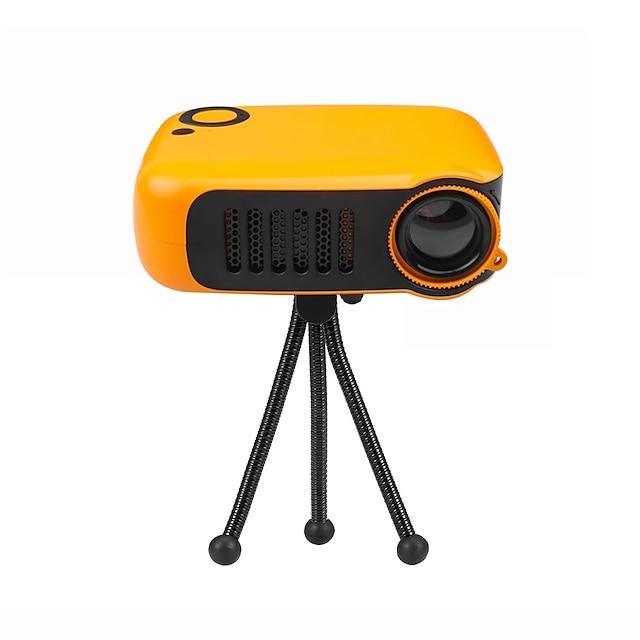 mini projecteur portable 320 * 240p prend en charge 1080p lcd 50000 heures de vie de la lampe projecteur vidéo de cinéma maison pour batterie externe prise EU / US